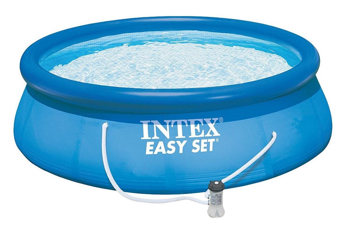 Бассейн с надувным верхним кольцом 244х76 см Intex 28112 надувной бассейн intex 28112