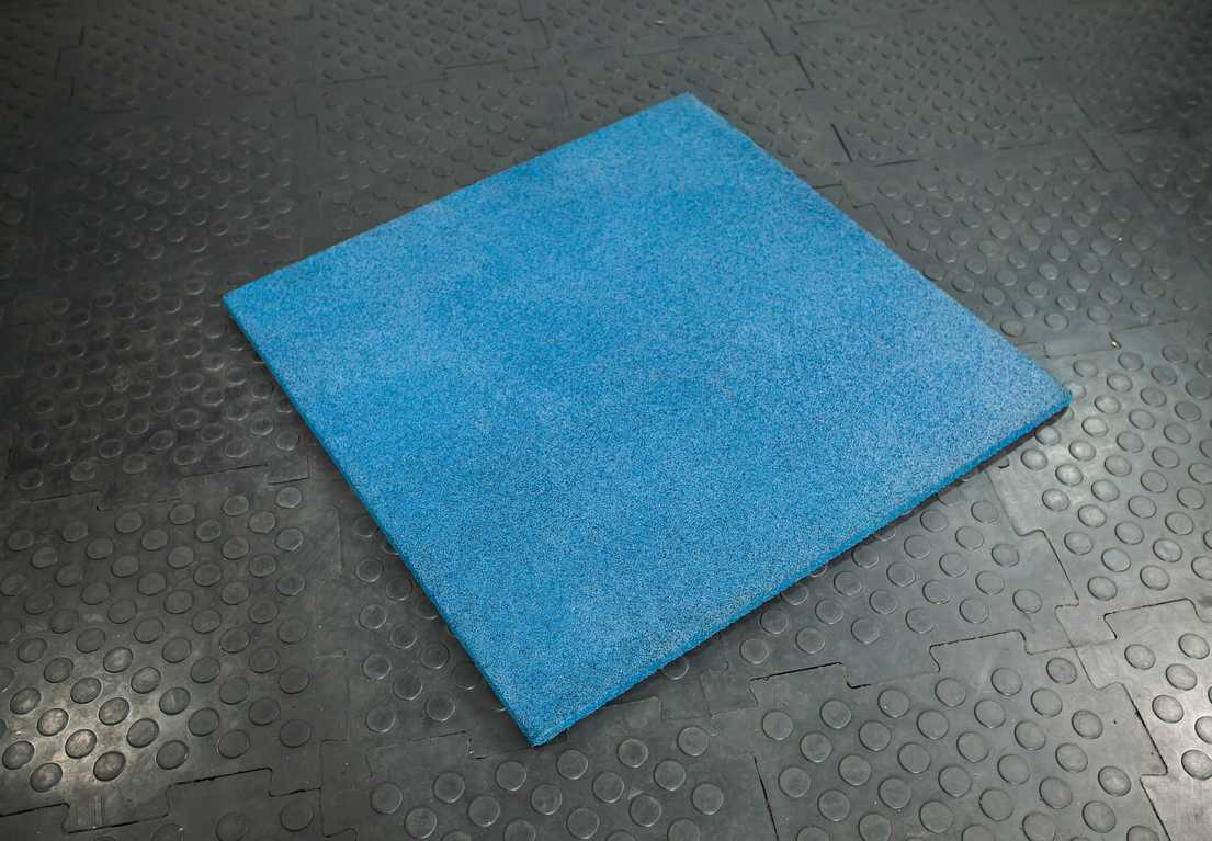 Напольное резиновое покрытие Stecter 1000х1000х30 мм (цвет - синий) 2248 игровые коврики орто пазл напольное покрытие микс базовый