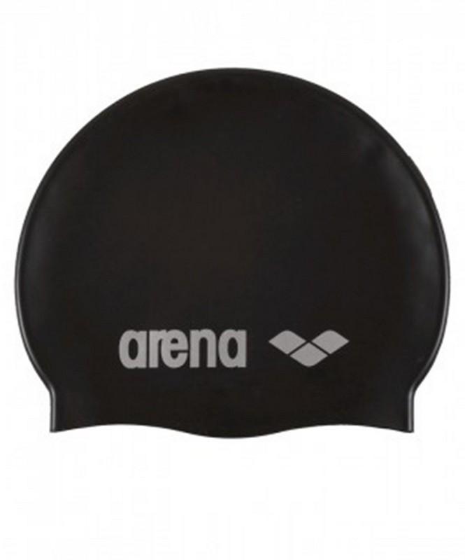 Шапочка для плавания Arena Classic Silicone Cap (91662 55) силикон, black/silver шапочка для плавания arena classic silicone белый