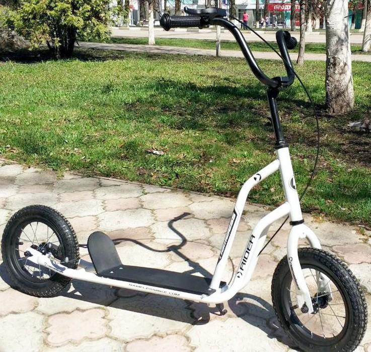 Самокат Nameless Rider SKL-013-AWS, белый nameless