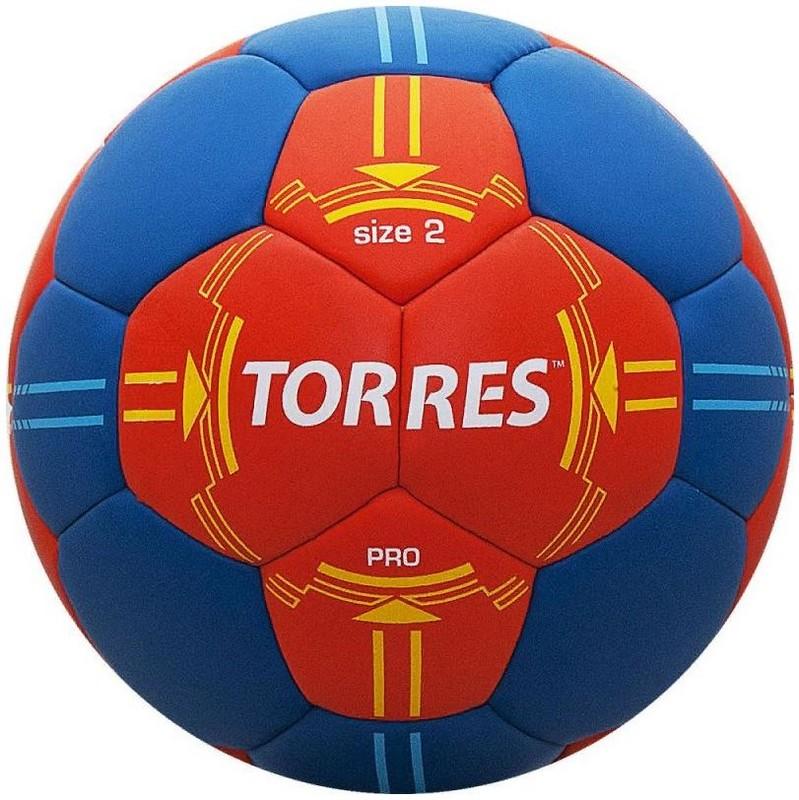 Мяч гандбольный Torres PRO H30062 (р.2) матчевый, оранж/син.
