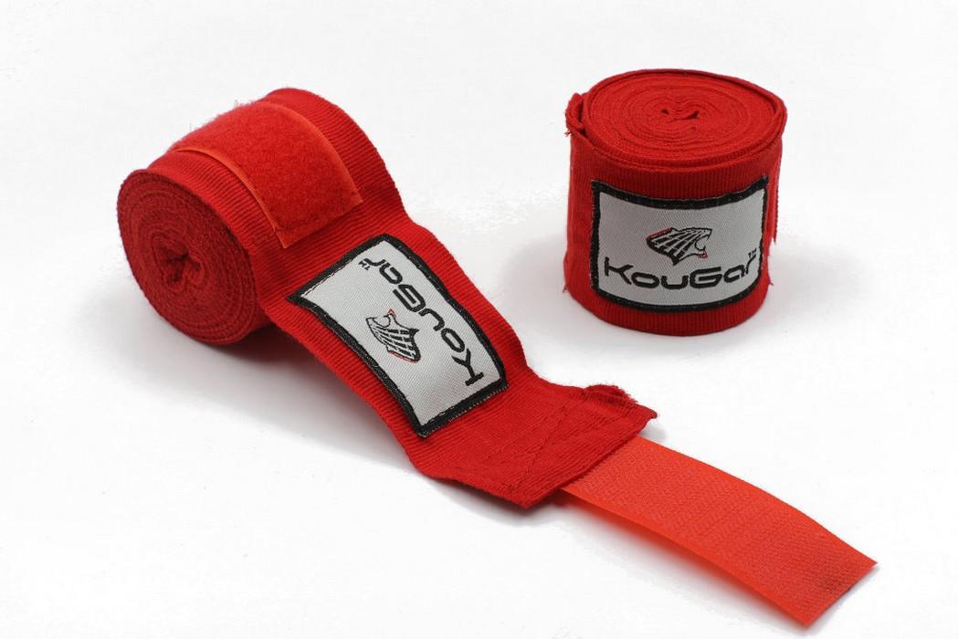 Бинт боксерский Kougar K500, красный
