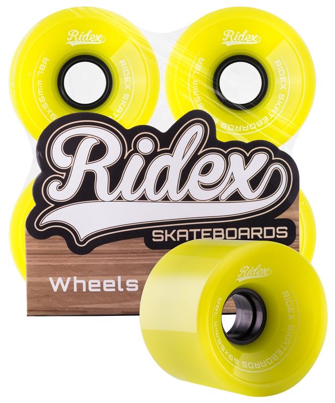 Комплект колес для лонгборда Ridex SB, 78А, 69x55мм, зеленый, 4 шт.