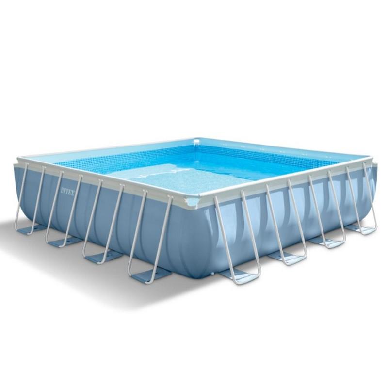 Бассейн на опорах 427х427х107 см Intex 28764 intex intex каркасный бассейн с металлическим ободком 366х76 см