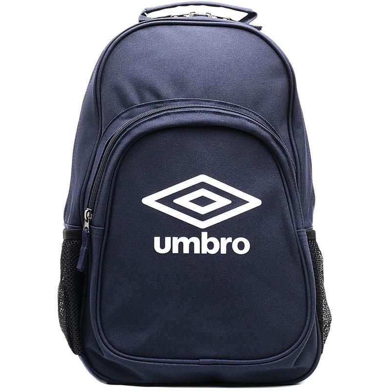 Рюкзак спортивный Umbro Team Backpack, 2 отделения + мини-органайзер, т.син/бел.