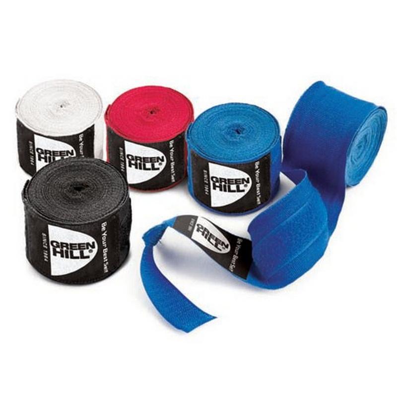 Купить Бинты боксерские эластичные Green Hill BP-6232d-BK L=4,5 м (пара) черный,
