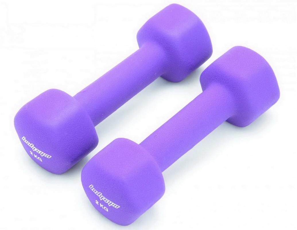 Гантели неопреновые 2 кг Body Gym DB02-2