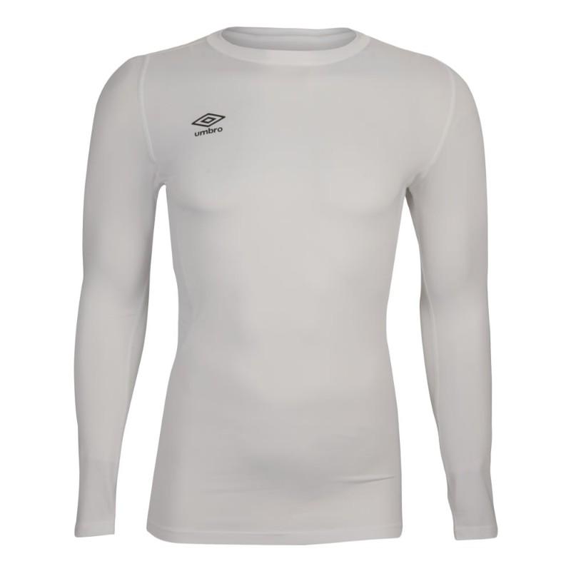 Футболка тренировочная Umbro Fw Ls Crew Baselayr с длинным рукавом (002) белая
