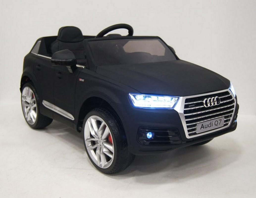 Купить Детский электромобиль River-Toys AUDI Q7 S-Line (лицензия) черный, Детские электромобили