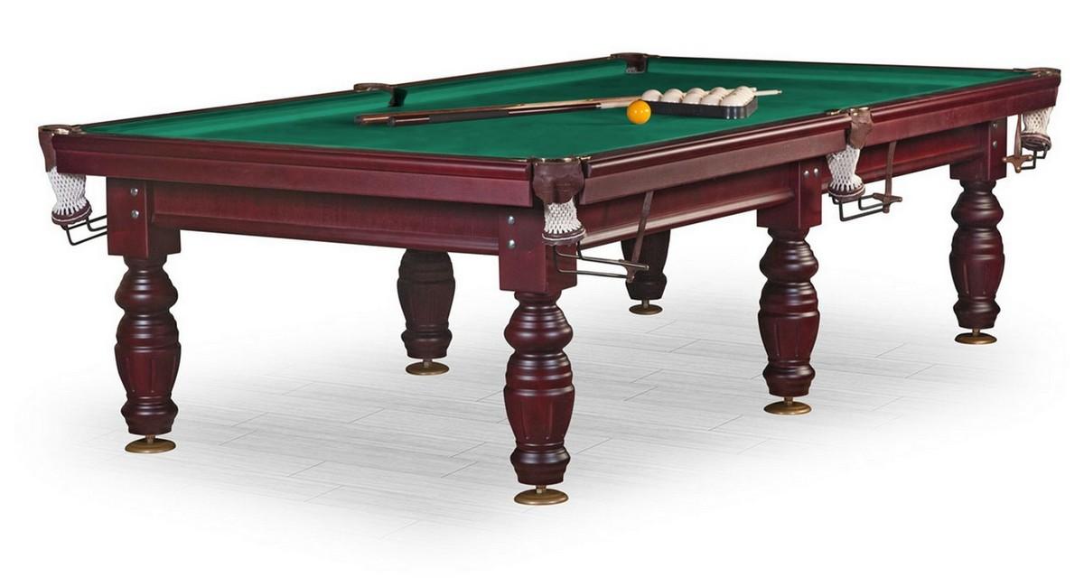 Бильярдный стол Дебют 10 ф, махагон, плита 25 мм, 6 ног KR10-25S