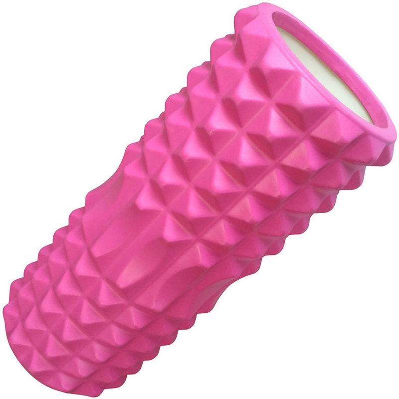 Купить Ролик для йоги (розовый) 33х13см ЭВА/АБС D26058, NoBrand