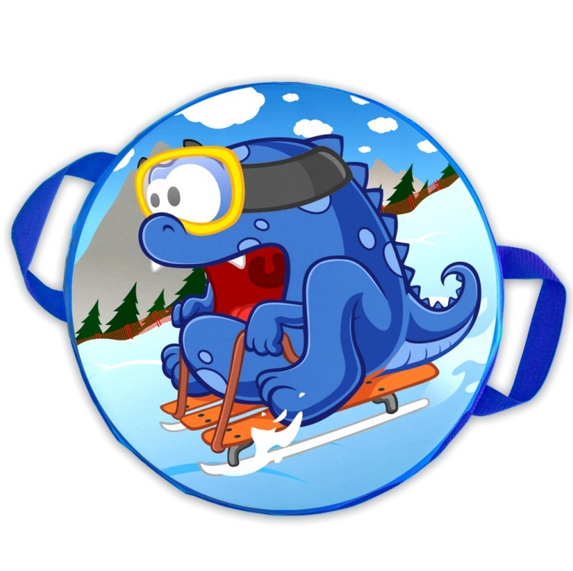 Ледянка мягкая круглая ComboSport D=45 см Дракон на санках