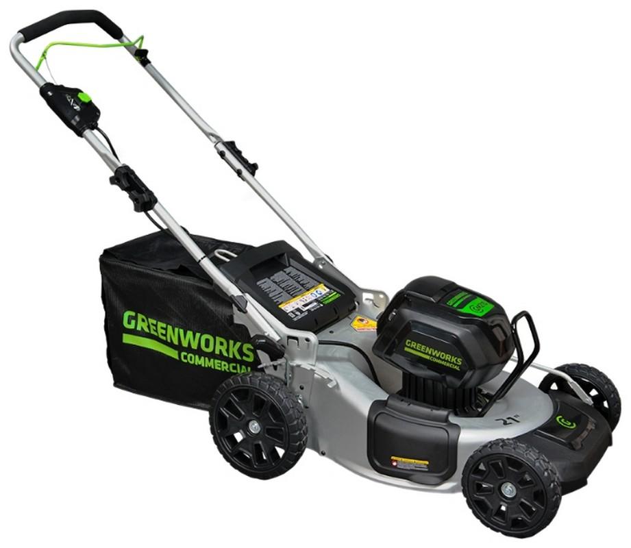Газонокосилка аккумуляторная Greenworks GD82LM53 аккумуляторная воздуходувка greenworks 24v g24ab без аккумулятора и зарядного устройства