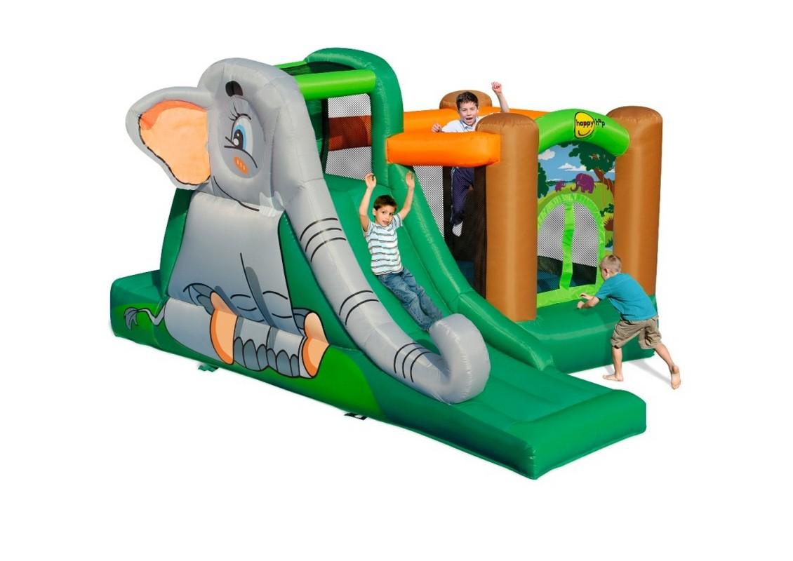 Детский надувной батут Happy Hop Слоник 9274