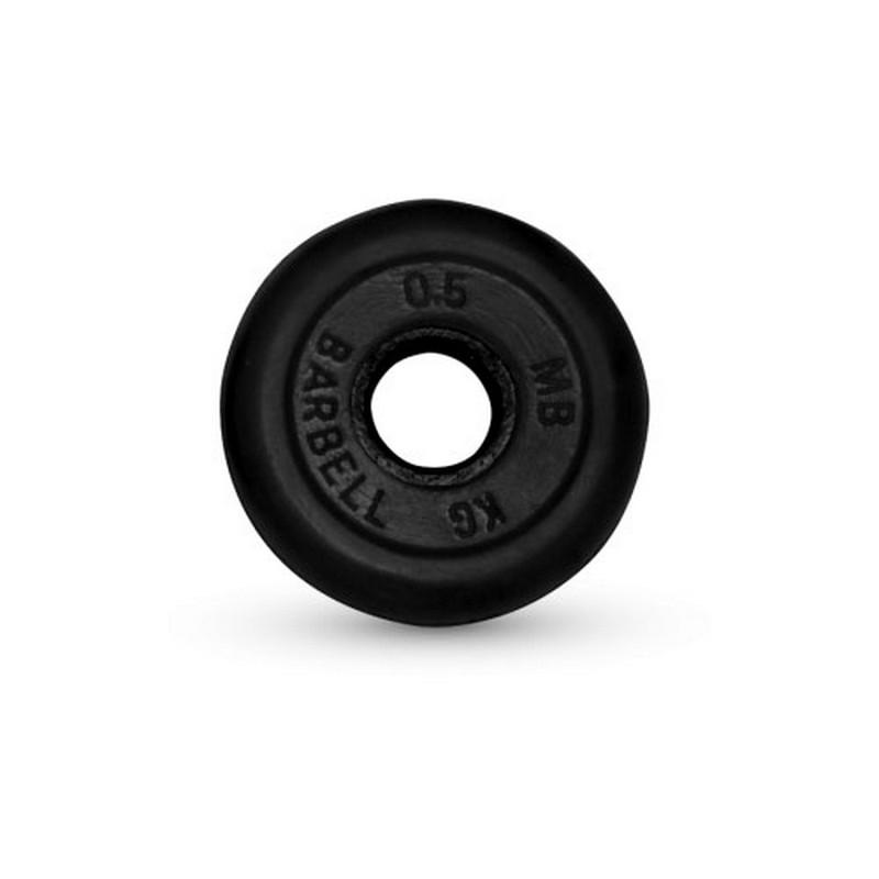 Диск обрезиненный 26 мм 0,5 кг MBBarbell MB-PltB26-0,5