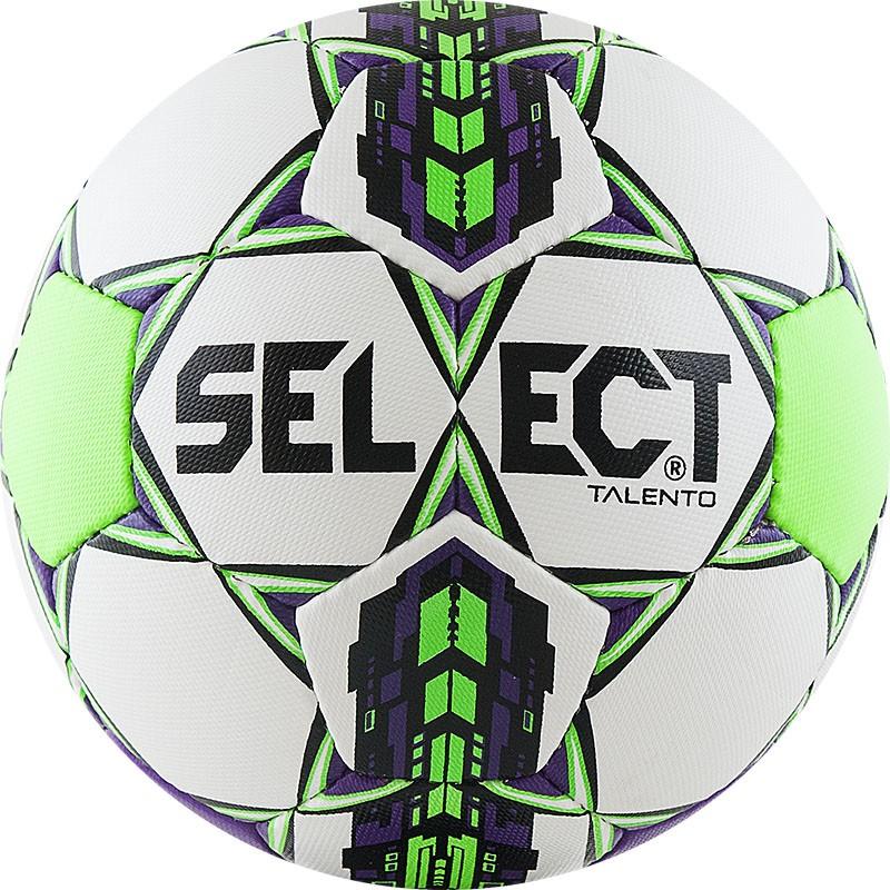 Мяч футбольный Select Talento (р.3) тренировочный облегченный, бел/салат/фиолет. мяч футбольный select talento арт 811008 005 р 3