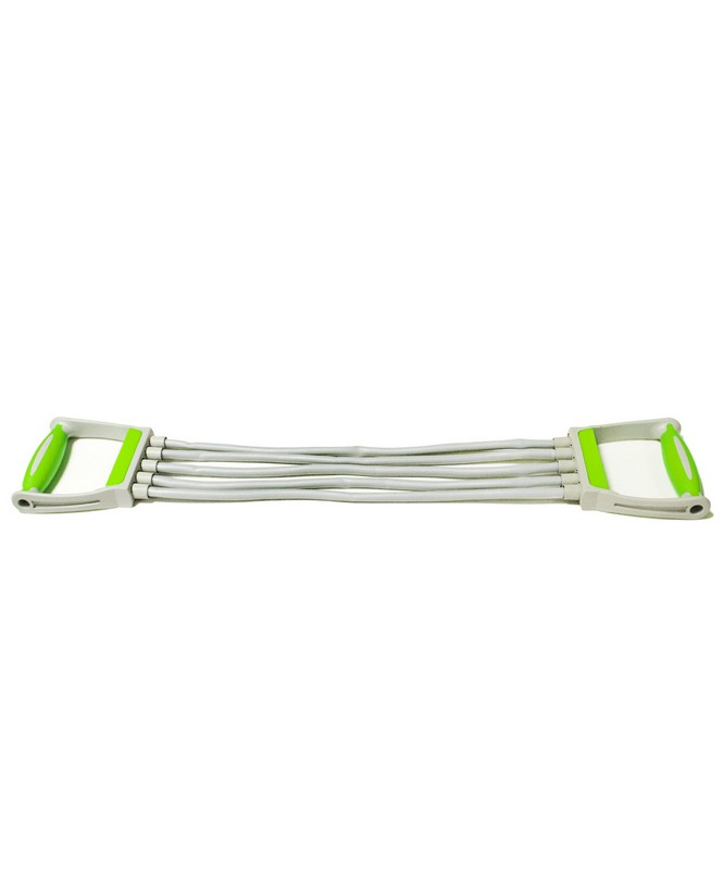 Эспандер плечевой Star Fit ES-102 5 струн, резиновый, зеленый тренажер эллиптический star fit ve 102 racer