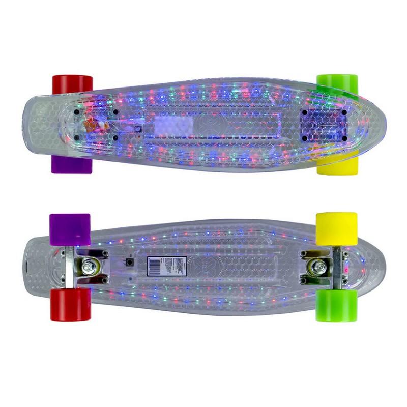 Скейтборд MaxCity MC Plastic Board LED small