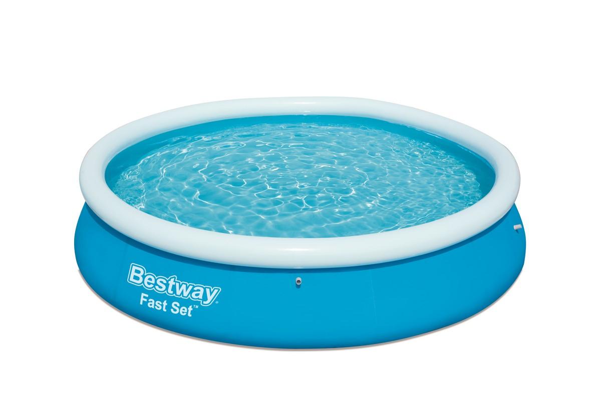 Купить Бассейн с надувным бортом 366х76 см Bestway 57273,