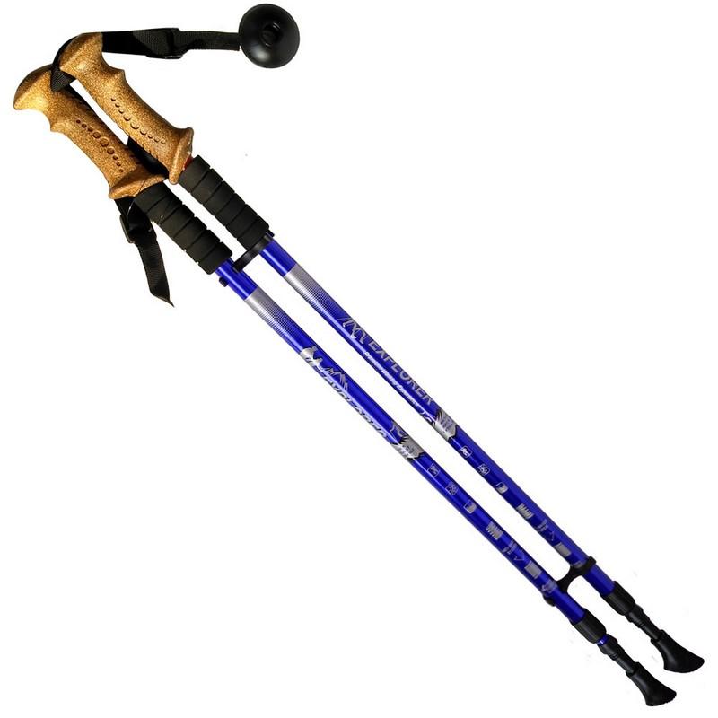 Купить Палки для скандинавской ходьбы телескопическая, 2-х секционная R18143-PRO синий, NoBrand