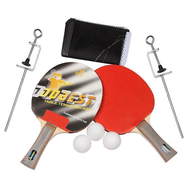 Купить Набор для настольного тенниса Dobest 0 звезд (2 ракетки + 3 мяча сетка крепеж) BR33/0,