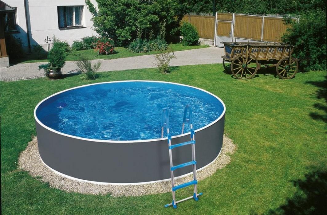 Купить Морозоустойчивый бассейн Azuro Graphite круглый 5.0x1.2 м Basic,
