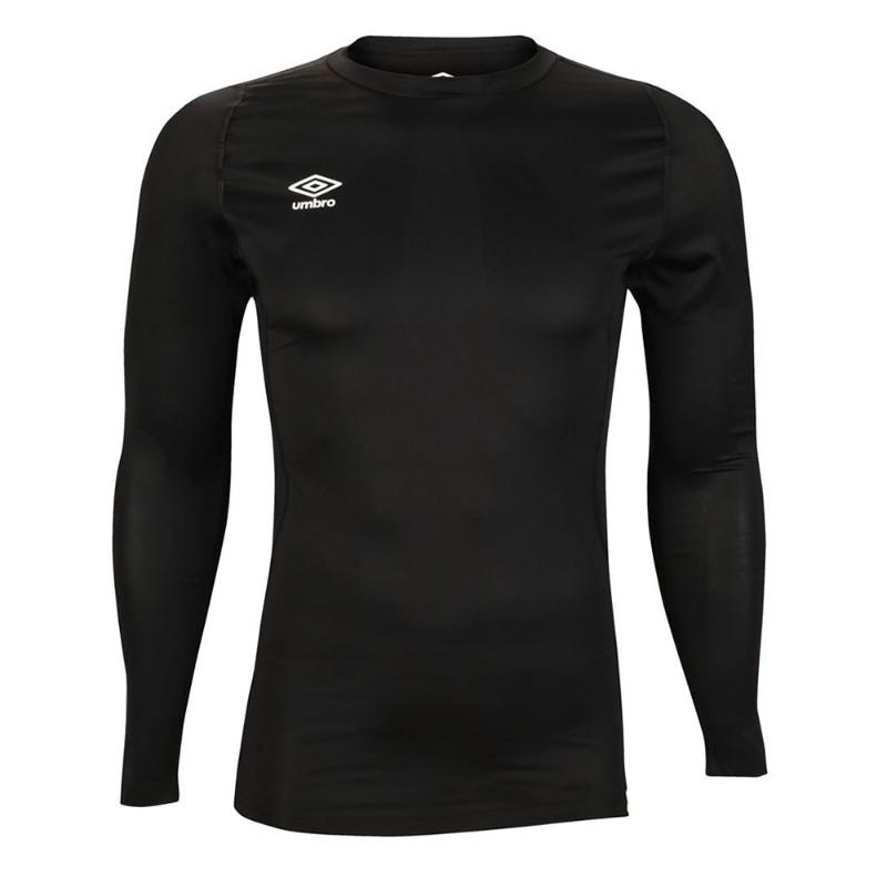 Футболка тренировочная Umbro Fw Ls Crew Baselayr с длинным рукавом (060) черная