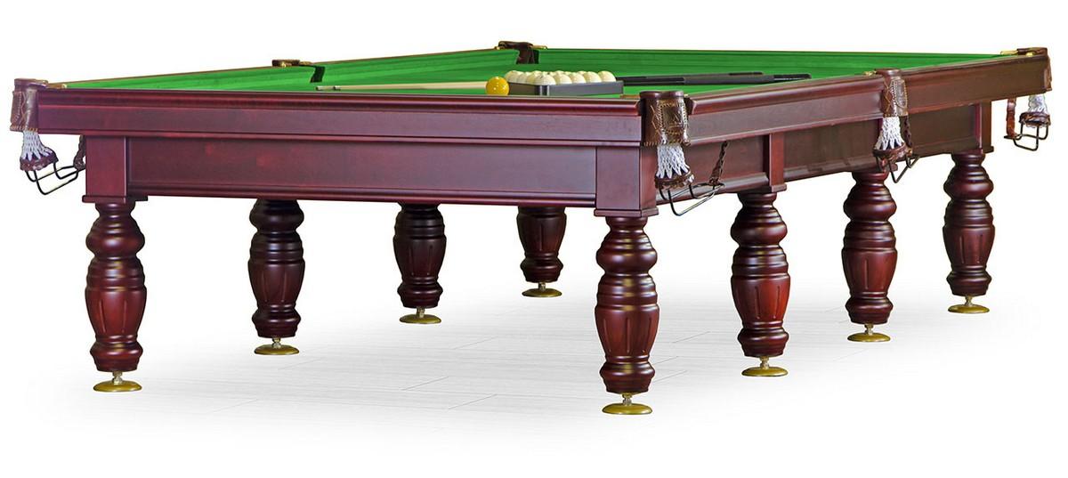 Бильярдный стол для русского бильярда Дебют 12 ф (махагон, плита 45мм, 8 ног) KR12-45S