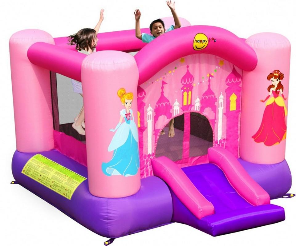 Детский надувной батут Happy Hop Веселая Принцесса 9201P