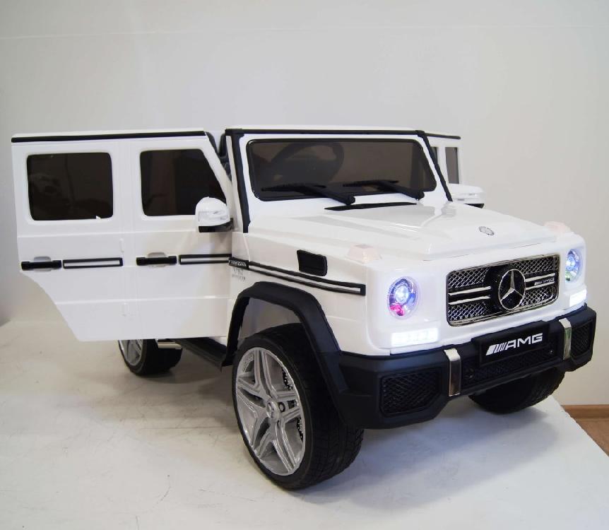 Электромобиль River-Toys Mercedes G65 AMG белый c ДУ (лицензия)