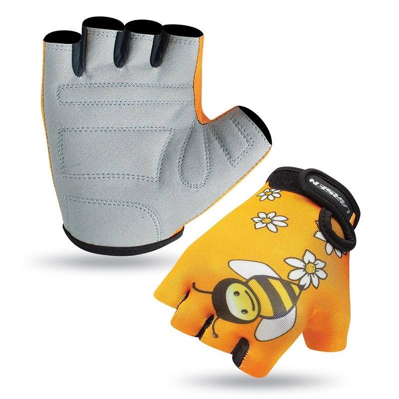 Велоперчатки детские желтый Larsen 01-2741