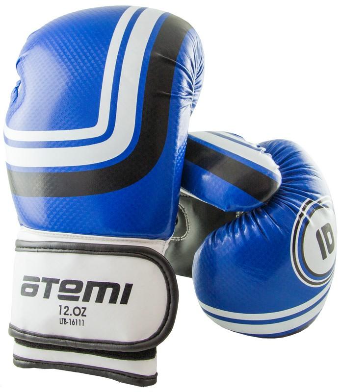Перчатки боксерские Atemi LTB-16111, 14 унций L/XL, синие перчатки велоолимп синие размер l