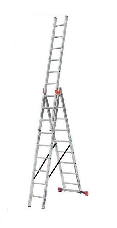 Универсальная лестница Krause MONTO TRIBILO 3х10 перекладин, 300-690 см 120618 лестница krause tribilo 121226