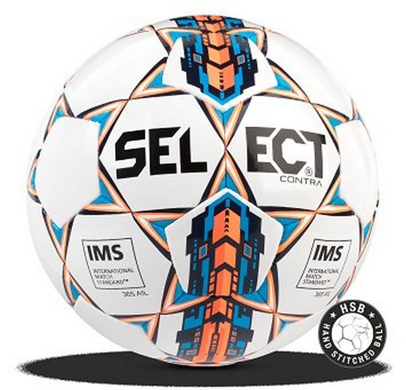 Мяч футбольный Select Contra IMS, 812310-006 бел/оранж/син. мяч футбольный select talento арт 811008 005 р 3