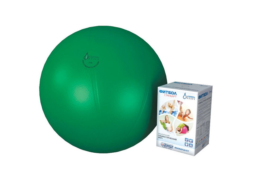 Фитбол гимнастический Альпина Пласт Стандарт 65 см. зеленый мячи альпина пласт мяч гимнастический фитбол стандарт 65 см