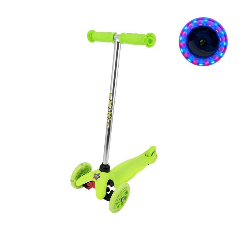 Самокат RGX Mini LED green