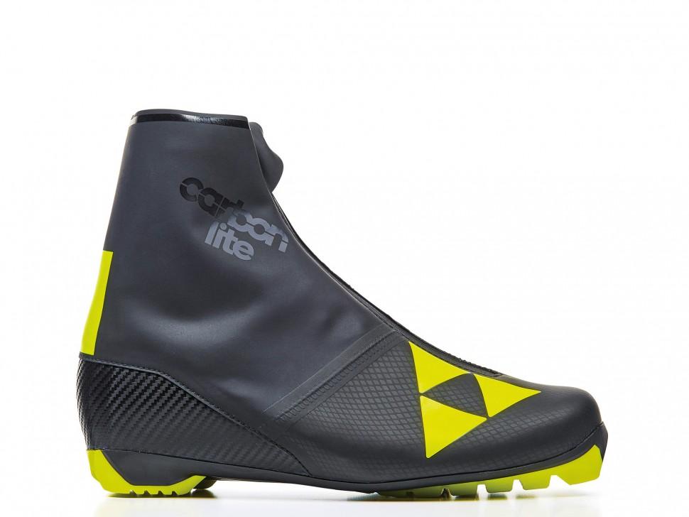 Купить Лыжные ботинки Fischer Carbonlite Classic (S10520) (черно/желтый),