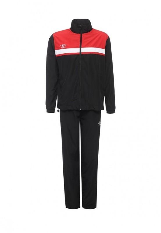 Костюм спортивный Umbro Smart Lined Suit мужской 462016 (621) чер/красн/бел.