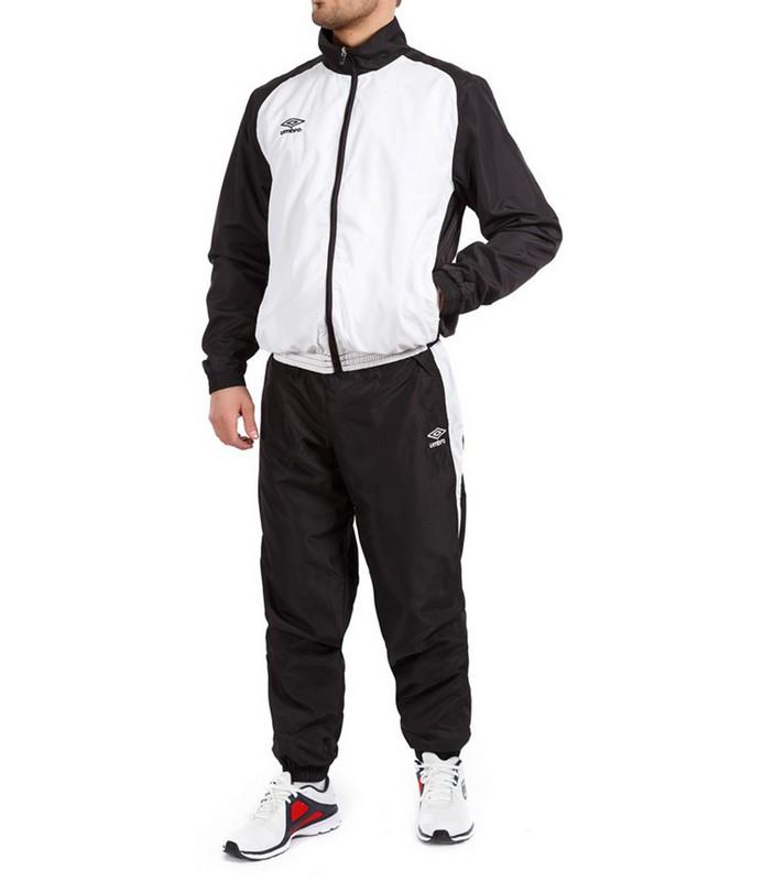 Костюм спортивный Umbro Uniform II Lined Suit мужской 463014 (166) бел/чер.