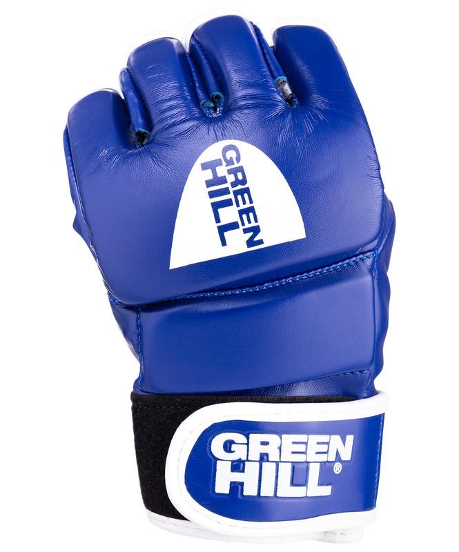 Перчатки для ММА Green Hill MMR-0027, к/з, синий green hill twins ggl 3 m