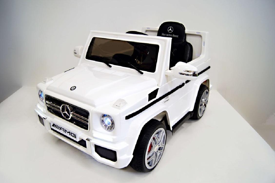 Электромобиль River-Toys Mercedes G-65 (LS528) белый с ДУ (лицензия)