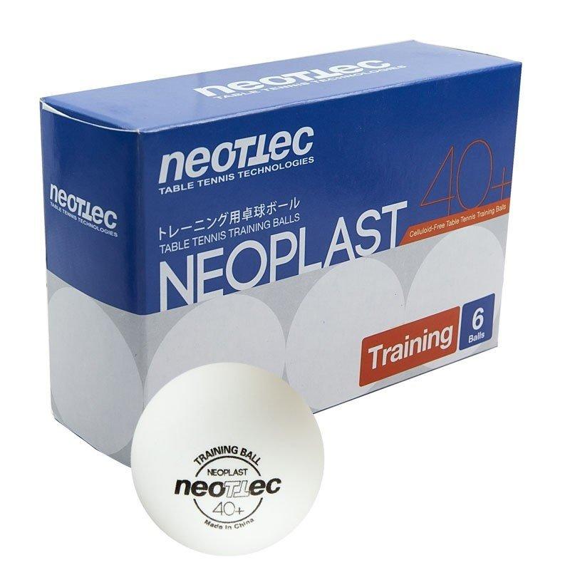 Мячи для настольного тенниса Neottec Neoplast, 6 шт, белый