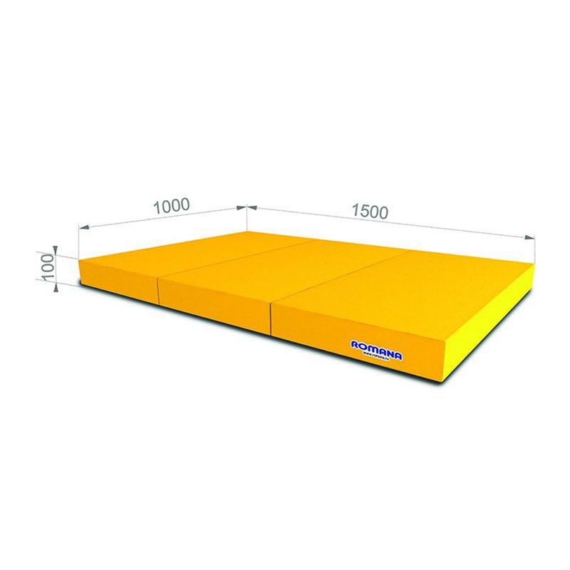 Мат тройной Romana pro ДМФ-ЭЛК-14.21.00 (1х1,5х0,1 м) желтый