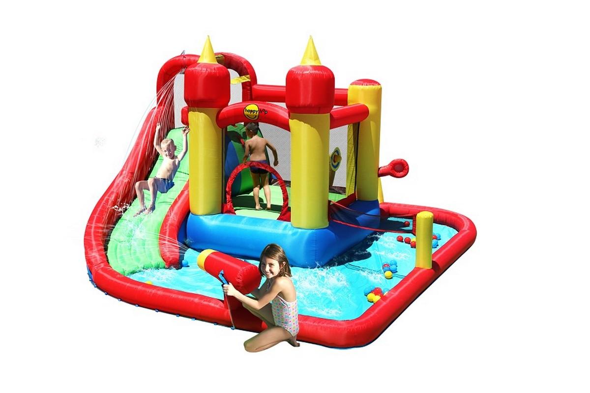 Детский надувной Водный Батут Happy Hop Супер Скольжение 9016