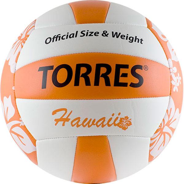 Мяч волейбольный Torres Hawaiiр р.5 V30075B тактическая доска для волейбола torres tr1001v