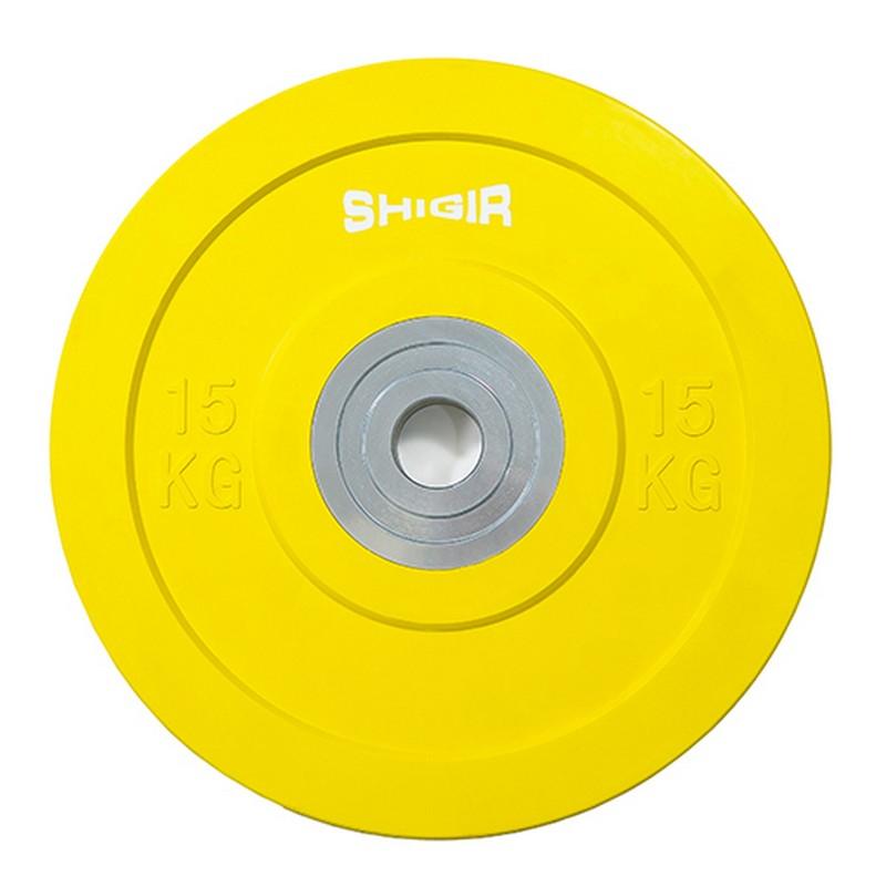 Купить Диск бамперный цветной для кроссфита 15 кг Iron King CR,