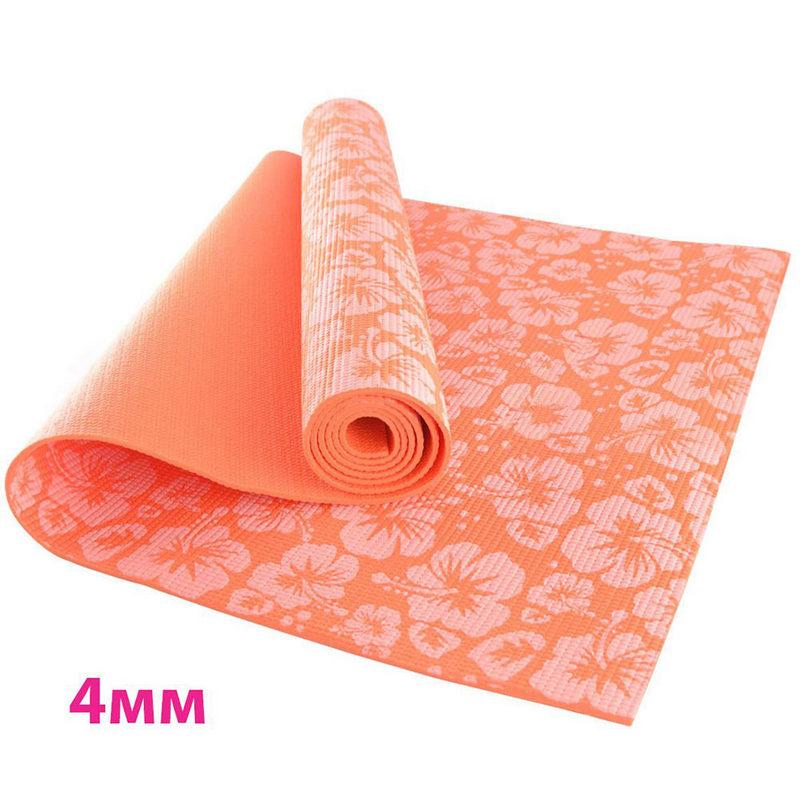 Купить Коврик для йоги Sportex HKEM113-04-ORANGE, Оранжевый,