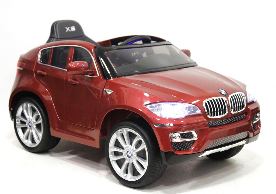 Купить Детский электромобиль River-Toys BMW-X6 Cherry Glanec (лицензионная модель) с ДУ, Детские электромобили