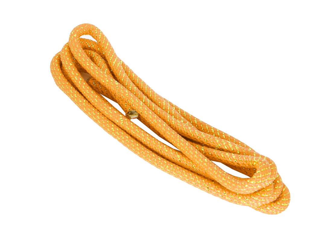 Скакалка для х/г 3м AS4 ПА жёлтаясеребро с люрексом,  - купить со скидкой