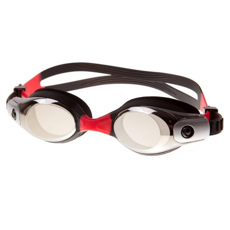 Очки для плавания Alpha Caprice KD-G45 Black-Red,  - купить со скидкой